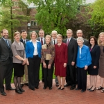 Bishop Lecture Group Photo: Dr. John Lantos, Bishop Committee Members, CBSSM Co-Directors, and the Bishop Family