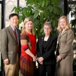 Bishop Lecture Group Photo From Left: Scott Kim, Susan Goold, Ruth Macklin, and Angela Fagerlin